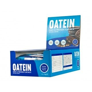 Oatein Flapjack ( Protein Bars ) - Box of 12 Cookies & Cream
